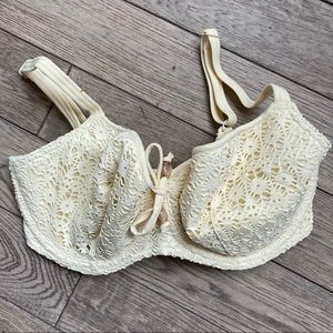 Freya Cream Eyelet Bikini Top